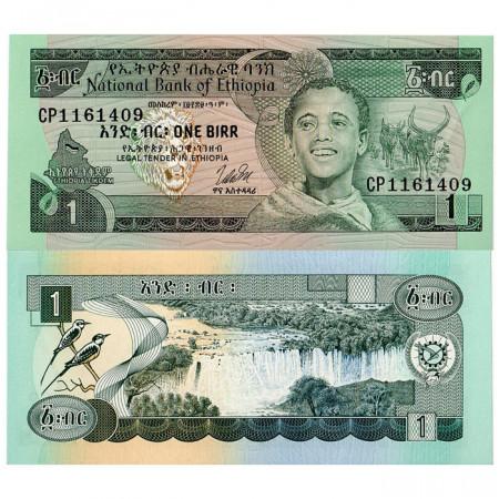 1976 (EE 1969) * Billete Etiopía 1 Birr  - Firma 2 (p30b) SC