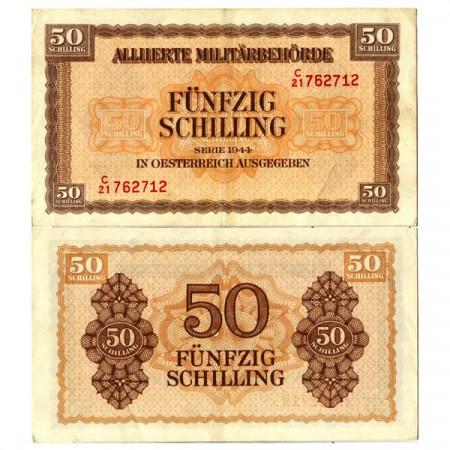 "1944 * Billete Austria 50 Schilling ""Military Occupation - WWII"" (p109) cEBC"