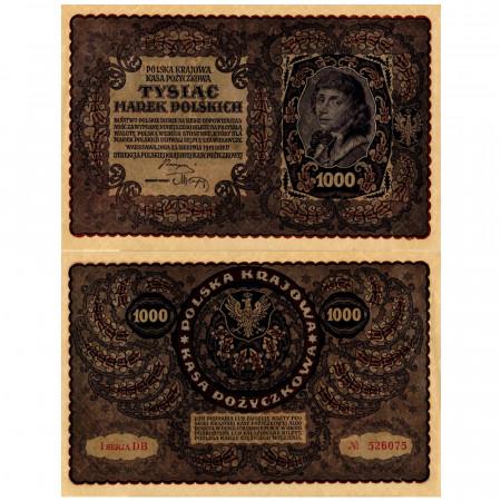 """1919 * Billete Polonia 1000 Marek """"T Kosciuszko"""" (p29) cSC"""
