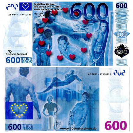 "ND * Ticket 600 Eros ""Euro Eros"" UNC"