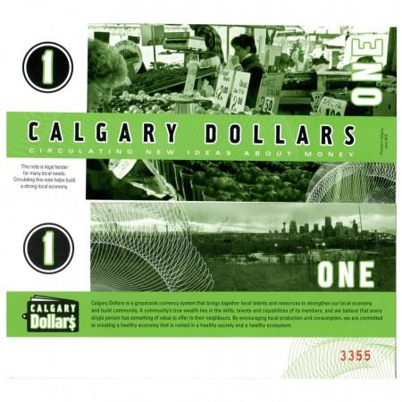 """2010 * Billete Polímero 1 Calgary Dollars """"New Ideas"""" SC"""