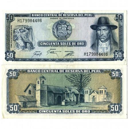 "1975 * Billete Perú 50 Soles de Oro ""Tupac Amaru II"" (p107) EBC"