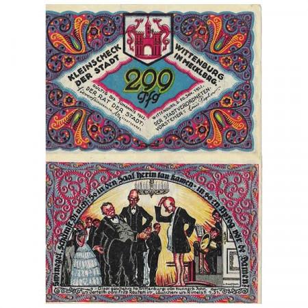 "1922 * Notgeld Germania 299 Pfennig ""Meclemburgo-Pomerania - Wittenburg"" (1445) SPL"
