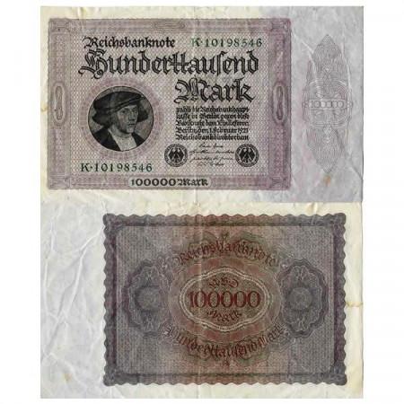 """1923 * Billete Alemania Weimar 100.000 Mark """"Reichsbanknote"""" (p83a) BC"""