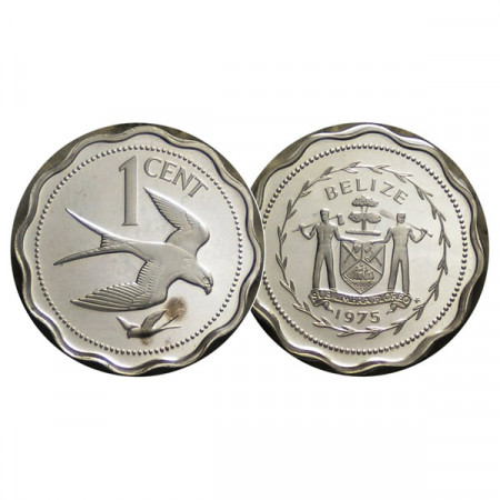 "1975 FM * 1 Cent Plata Belice ""Shallow-Tailed Kite"" (KM 46a) PROOF"