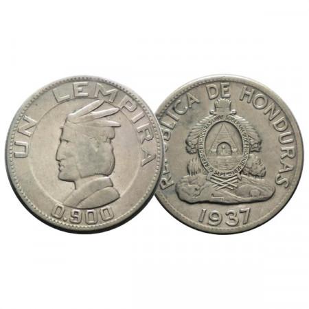 """1937 * 1 Lempira Plata Honduras """"Lempira"""" (KM 75) BC"""