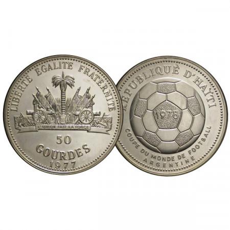 "1977 * 50 Gourdes Haiti ""1978 World Cup"" (KM 127) PROOF"