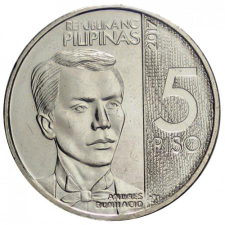 """2017 * 5 Piso Filipinas """"Andres Bonifacio"""" UNC"""