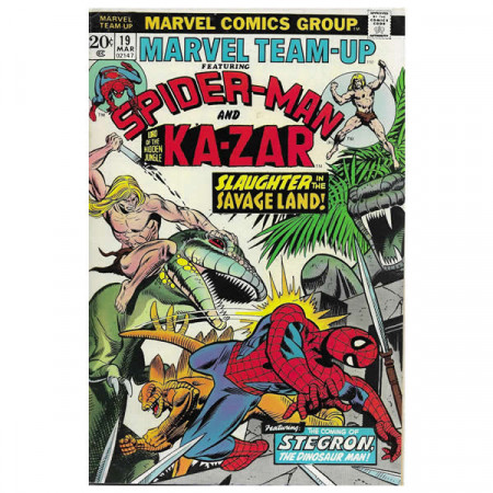 "Historietas Marvel #19 03/1973 ""Marvel Team-Up ft Spiderman – Kazar"""