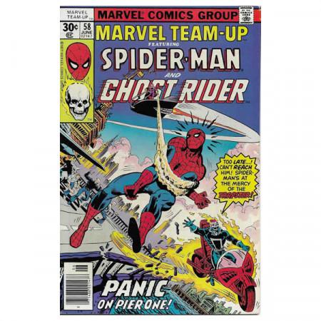 """Historietas Marvel #58 06/1977 """"Marvel Team-Up ft Spiderman - Ghost Rider"""""""