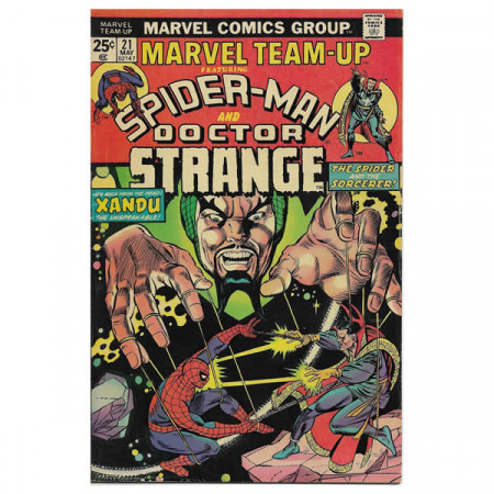 "Historietas Marvel #21 05/1974 ""Marvel Team-Up ft Spiderman - Doctor Strange"""