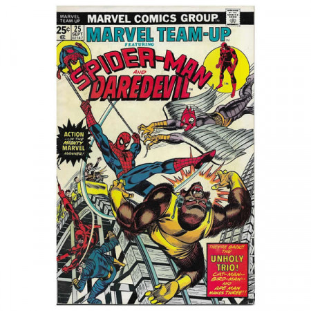"Historietas Marvel #25 09/1974 ""Marvel Team-Up ft Spiderman - Daredevil"""