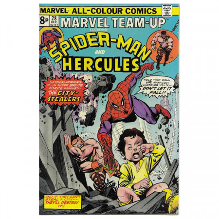 "Historietas Marvel #28 12/1974 ""Marvel Team-Up ft Spiderman - Hercules"""