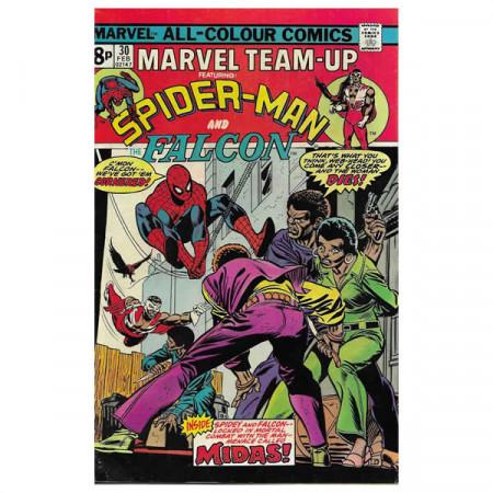 """Historietas Marvel #30 02/1975 """"Marvel Team-Up ft Spiderman - Falcon"""""""