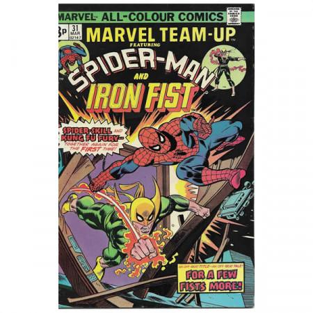 """Historietas Marvel #31 03/1975 """"Marvel Team-Up ft Spiderman - Iron Fist"""""""