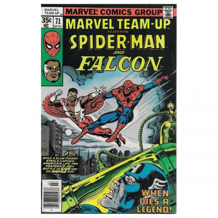 """Historietas Marvel #71 07/1978 """"Marvel Team-Up ft Spiderman - Falcon"""""""