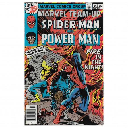 """Historietas Marvel #75 11/1978 """"Marvel Team-Up ft Spiderman - Power Man"""""""