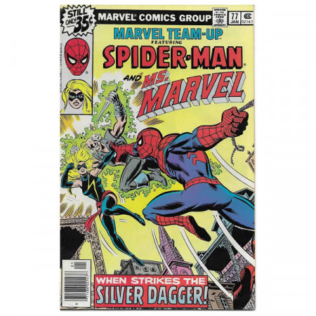"""Historietas Marvel #77 01/1979 """"Marvel Team-Up ft Spiderman - Ms. Marvel"""""""