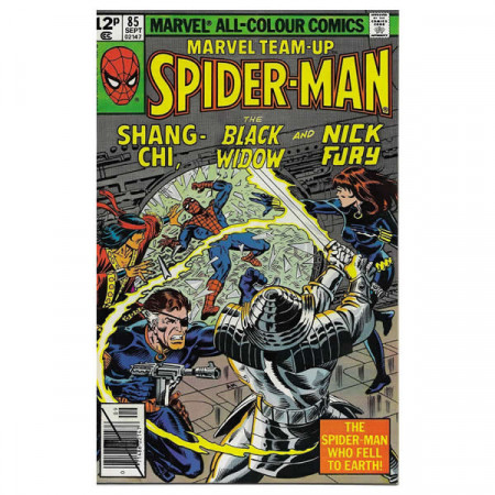 "Historietas Marvel #85 09/1979 ""Marvel Team-Up Spiderman - Shang-Chi, Black Widow and Nick Fury"""