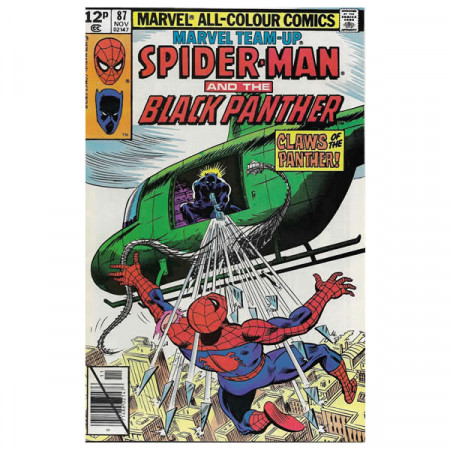 "Historietas Marvel #87 11/1979 ""Marvel Team-Up Spiderman - Black Panther"""