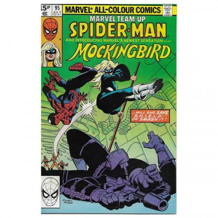 """Historietas Marvel #95 07/1980 """"Marvel Team-Up Spiderman - Mockingbird"""""""