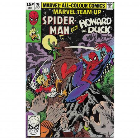 """Historietas Marvel #96 08/1980 """"Marvel Team-Up Spiderman - Howard the Duck"""""""