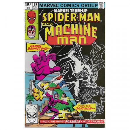 "Historietas Marvel #99 11/1980 ""Marvel Team-Up Spiderman - Machine Man"""