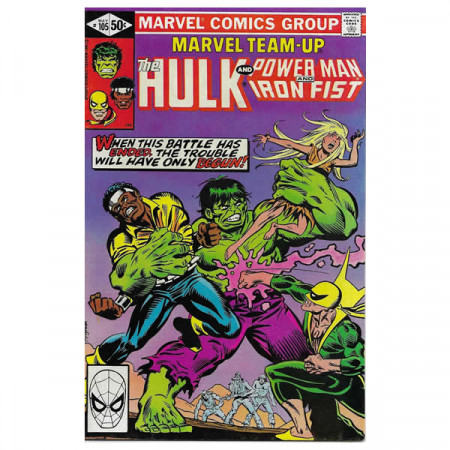 "Historietas Marvel #105 05/1981 ""Marvel Team-Up Hulk - Power Man and Iron Fist"""