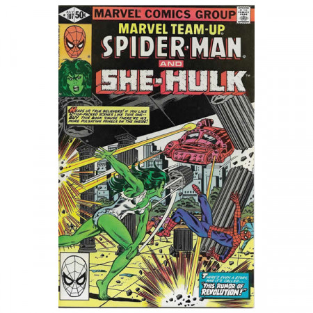 "Historietas Marvel #107 07/1981 ""Marvel Team-Up Spiderman - She-Hulk"""