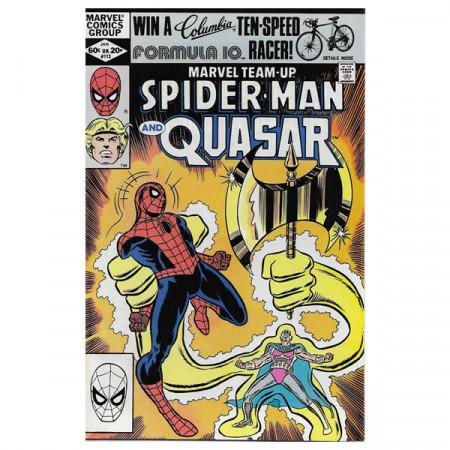 """Historietas Marvel #113 01/1982 """"Marvel Team-Up Spiderman - Quasar"""""""