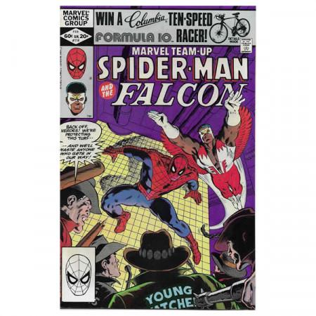 """Historietas Marvel #114 02/1982 """"Marvel Team-Up Spiderman - Falcon"""""""