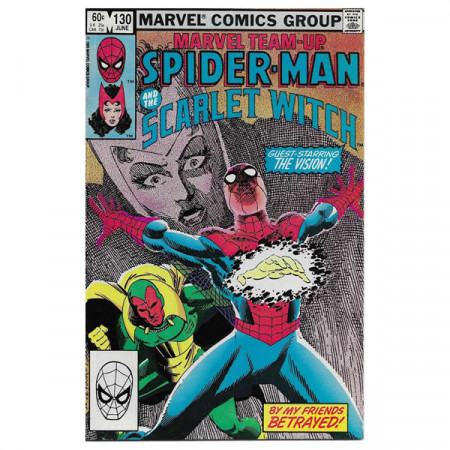"Historietas Marvel #130 06/1983 ""Marvel Team-Up Spiderman - Scarlet Witch"""