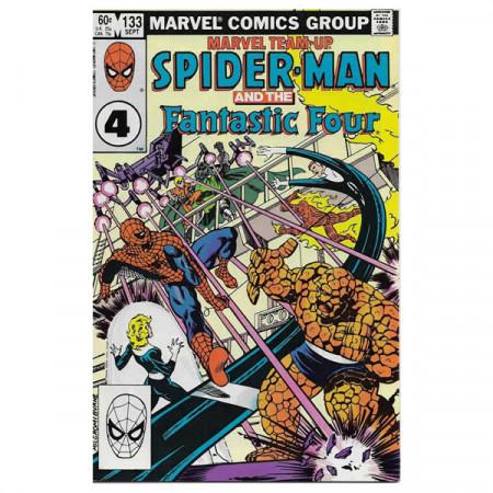 "Historietas Marvel #133 09/1983 ""Marvel Team-Up Spiderman - Fantastic Four"""