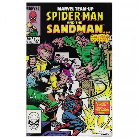 "Historietas Marvel #138 02/1984 ""Marvel Team-Up Spiderman - Sandman"""