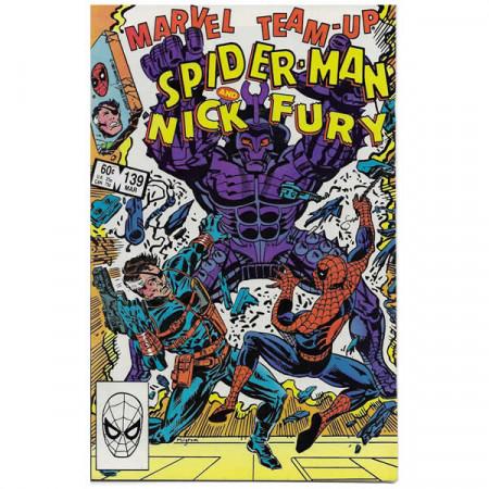 """Historietas Marvel #139 03/1984 """"Marvel Team-Up Spiderman - Nick Fury"""""""