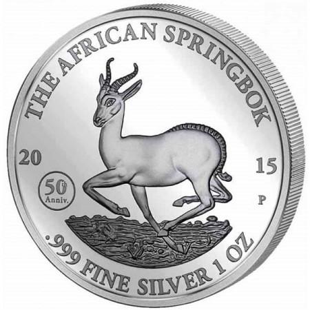 2015 * 1000 Francs 1 OZ Gabon Springbok 50e Anniversaire