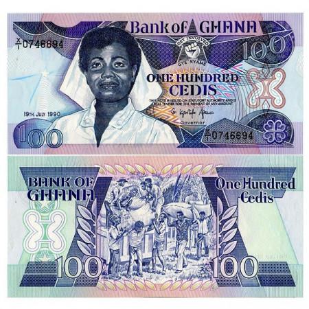 1990 * Billete Ghana 100 Cedis (p26b) SC