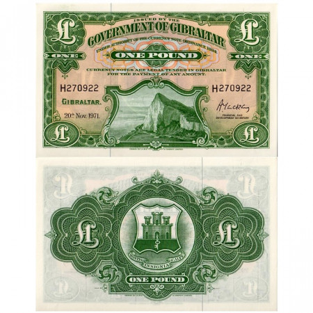 1971 * Billete Gibraltar 1 Pound (p18b) SC