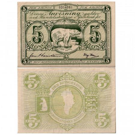 1953-1967 * Billete Groenlandia 5 corone MBC