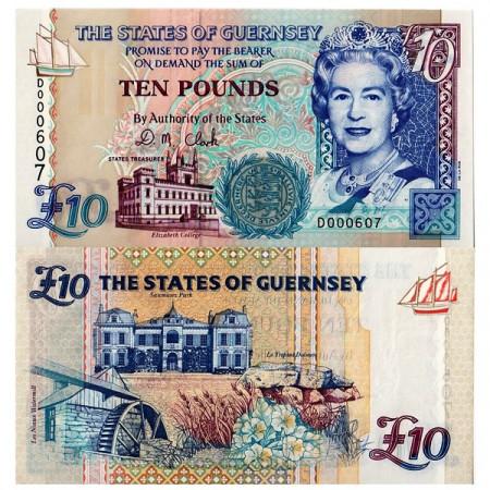 ND (1995) * Billete Guernsey 10 Pounds (p57b) SC