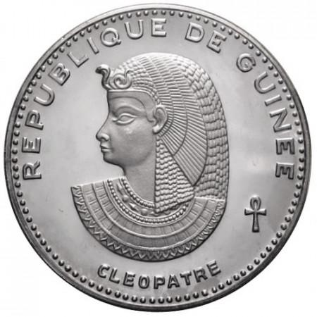"1970 * 500 Francs Plata Guinea ""Cleopatre"""