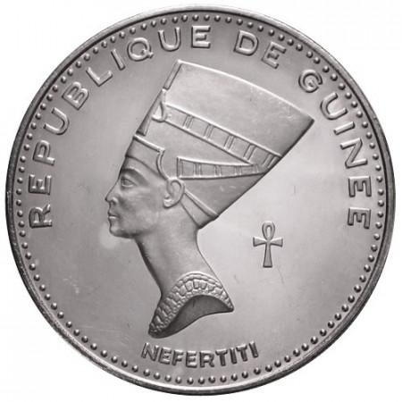 "1970 * 500 Francs Plata Guinea ""Nefertiti"""
