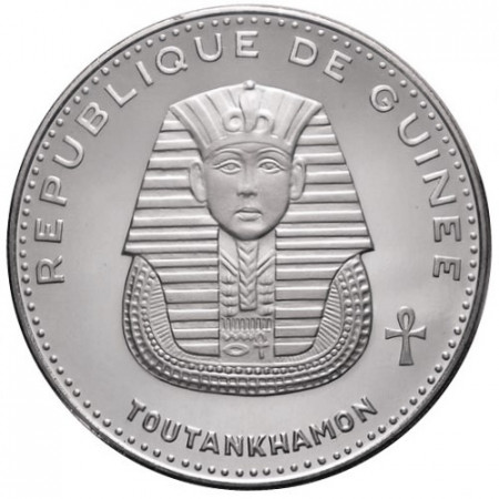 "1970 * 500 Francs Plata Guinea ""Toutankhamon"""