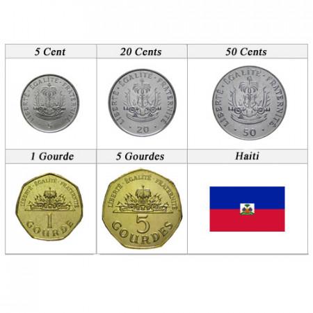 Años Mixto * Serie 5 monedas Haití