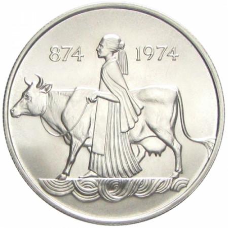 1974 * 500 Kronur plata Islandia - 1° Asentamiento