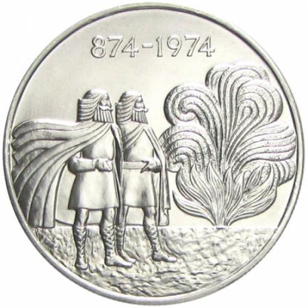 1974 * 1000 Kronur plata Islandia - 1° Asentamiento