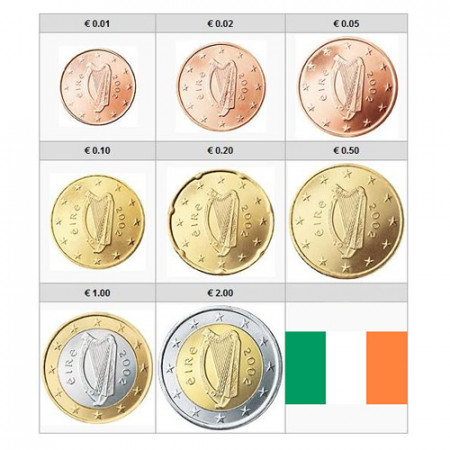 2017 * Serie 8 Monedas Euro IRLANDA FDC