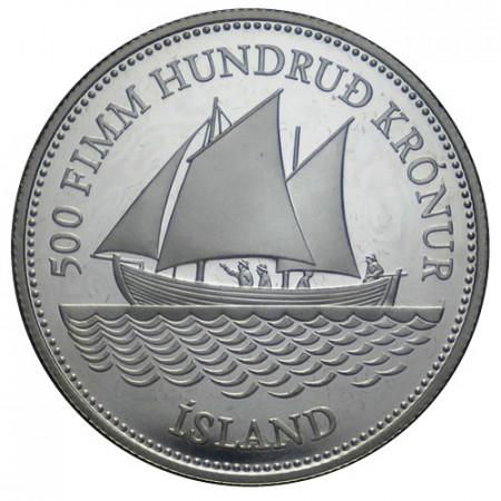 1986 * 500 kronur Islandia 100° billetes de Islandia