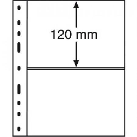 Leuchtturm * 10 hojas OPTIMA por billetes, 2 divisiones, transparentes
