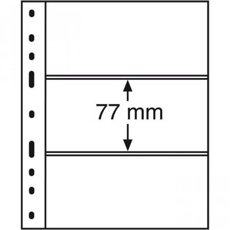 Leuchtturm * 10 hojas OPTIMA por billetes, 3 divisiones, negro